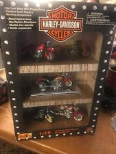 1999 Harley Davidson Collectibles Set Of 5 Motorcycles Preowned Maisto 1:18