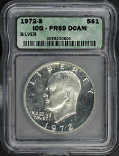 1972-S Silver Eisenhower Dollar ICG PR-69 DCAM -178968