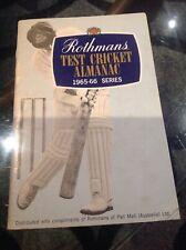 New listing 1965-66 ROTHMANS TEST CRICKET ALMANAC