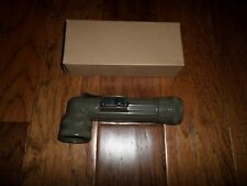 U.S MILITARY ISSUE ANGLE HEAD FLASHLIGHT W/EXTRA LENSES OD GREEN U.S.A MADE