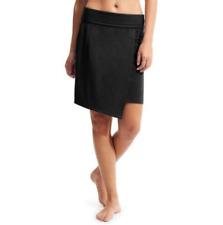 NWT Athleta Seaside Fold Over Skirt, Black SIZE L #212431