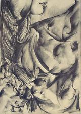 Original+Akt+Nu Dessin+Female Drawing+Andre d Orcay+Nude+21x29cm+Nr302+VP 200,-