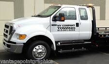 Company Towing decal for Wreckers, Roll Backs, Flat Beds, Tow Trucks, Etc.