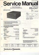 Service Anleitung Manual Heft Technics RS-CH7 Cassette Deck (B612)