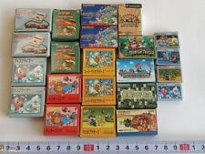 Lot of Famicom Gameboy Advance mini miniature figure keshi and badge set-A-