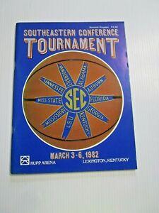 1982 Southeastern Conference Basketball Tournament Program Rupp CHARLES BARKLEY