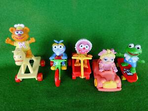 Vintage 1986 McDonalds Muppet Babies Complete Set of 5