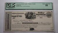 $100 1865 Oregon Illinois IL Obsolete Currency Bank Note Bill! Draft Bounty Ogle