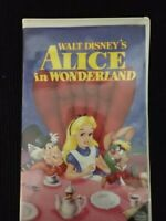 Alice In Wonderland VHS Disney, The Classics Black Diamond  Red Label Edition