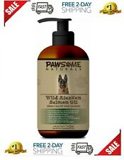 Pure Natural Wild Alaskan Salmon Oil For Dogs: Liquid Supplement Rich in Omeg...