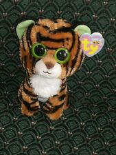 "Ty 6"" Beanie Boo ~ STRIPES ~ TIGER ~2010~ solid eyes ~Purple tag~ MWMT~ RETIRED"