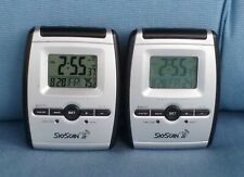 Two Equity SkyScan 31981B Portable Bedside Digital Alarm Clocks