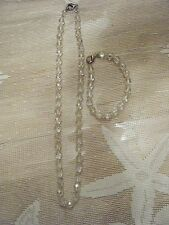 IRRIDESCENT 9 INCH NECKLACE AND 6 INCH BRACELET SET