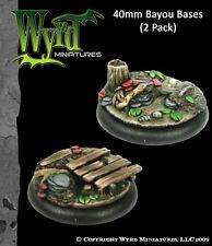 MALIFAUX Metal Base Inserts BAYOU BASES 40mm (2) Wyrd Miniatures WYR0022
