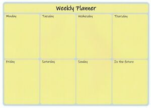 A4 Laminated Wipe Clean Reusable Weekly Planner Appointments To Do Free Pen L