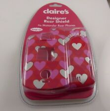 Hearts designer for motorola razr V3 case shield cover valentine valentines love
