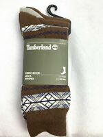 Timberland Brown/Blue/Gray 3 Pair Pack Men's Crew Socks A1G5M-931