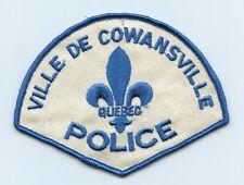 Ville de Cowansville Police, Quebec, Canada HTF Vintage Uniform/Shoulder Patch