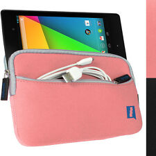 Pink Neoprene Pocket Cover Case For New Google Nexus 7 FHD 2. Gen (Aug 2013)
