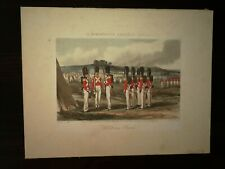 HAND COLOUR AQUATINT, R. ACKERMANN'S CHOBHAM SCENES ,PLATE 9 - GOLDSTREAM GUARDS