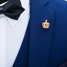 Gold Plated Crown Pin Brooch Lady and Gentlemen Suit Shirts Lapel Pin