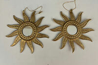 "Set 2 Sun Mirror Gold 5"" Christmas Tree Ornament"