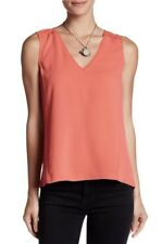 NWT Cooper & Ella Women's Orange Hi Lo Sleeveless Blouse Size Medium $98 EPBR