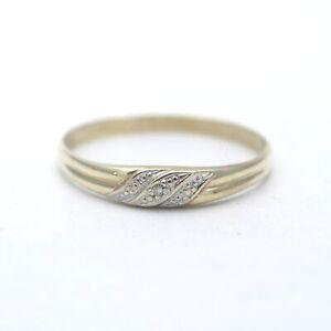 Solitär Ring 585 Gold Diamant 14 Kt Bicolor Wert 160,-