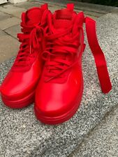 Classic all red Nike Air Force One Foamposite size 8