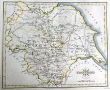 YORKSHIRE  YORK  DIVIDED INTO RIDINGS  BY JOHN CARY GENUINE ANTIQUE MAP  c1793