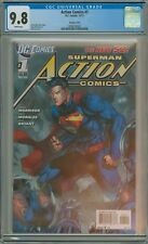ACTION COMICS 1 CGC 9.8 SUPERMAN JIM LEE SCOTT WILLIAMS VARIANT COVER 2011 DC