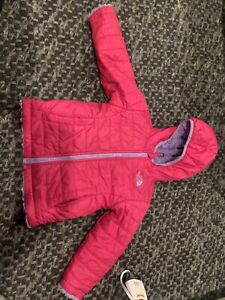 New The North Face Toddler Girl Size 2T Reversible Winter Pink Purple Fur Coat