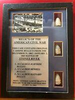 Battle of Stones River - Carbine Bullets - .54 Burnside .52 Merrill .54 Maynard