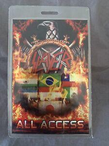 Slayer India- Japan- South America AAA Tour Laminate! RARE!