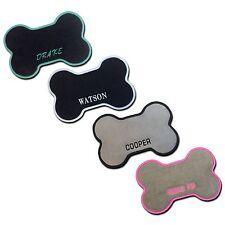 Custom Dog Bone Floor Mat - Food Water Bowl Mat - Personalized Pet Name Monogram