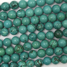 """8mm green turquoise round beads 15.5"""" strand"""