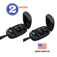 Bluetooth Earbuds Wireless Headphone Headset iPhone Samsung Android Waterproof 2