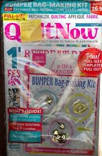 Quilt Now Christmassy Issue 55 (2018) Factory Packaged Includes Bag Making Kit