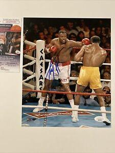 Larry Holmes Signed 8 x 10 JSA COA Boxing PhotoFile