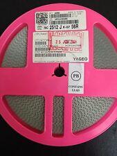 x4000pcs YAGEO, RC2512JK-0756R , Resistor Thick Film 2512 56 Ohm 5% 1W