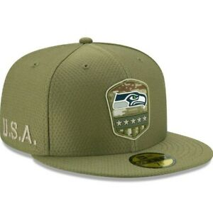 New Era 59FIFTY 2019 7 3/8 NFL SEATTLE SEAHAWKS Armed Forces Fitted Hat Cap Camo