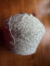 BIG 1.5kg Wool Yarn Cone QUALITY 3 ply, White/Light Grey, Black Knitting/Crochet