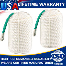 """1/2""""x300 Ft 2 Pack Twisted Braided Nylon Anchor Rope Line With Thimble Boat Rode"""