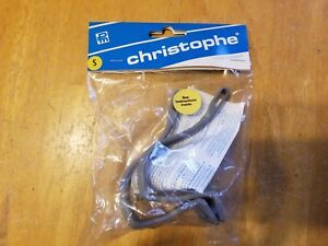 NOS Christophe France Road Bike Pedal Toe Clips - Small - Plastic Resin Gray