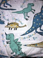 Debenhams Boys Single Bedding Duvet Cover Set Dinosaurs 100% cotton VGC