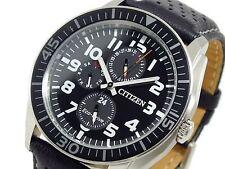 Citizen Eco-Drive Genuine Leather Strap Wristwatches