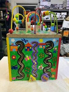 Wooden Activity Cube My Busy Town Kids Art & Craft Playset ALEX Toys