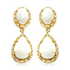 925 Sterling Silver Round Diamond Teardrop Dangling Stud Earrings Gift For Women