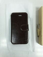 iphone 5/5s coffee brown leather case