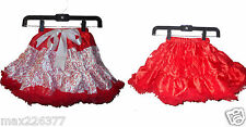 New tutu pettiskirt hearts red skirt girl Valentines reversible 2 sided 3 -5 yrs